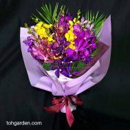 Fresh Mixed Mokara Orchid Bouquet