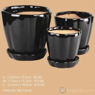Black Ceramic Pot (ITEM NO 8011050403)