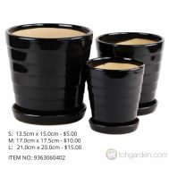Black Ceramic Pot (ITEM NO 9363060402)