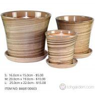 Brown Ceramic Pot (ITEM NO 8468110603)
