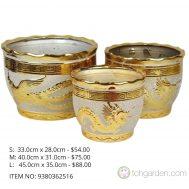 Gold Ceramic Pot (ITEM NO 9380362516)