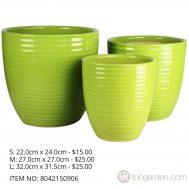 Green Ceramic Pot (ITEM NO 8042140905)