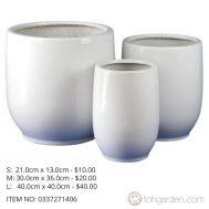 White Ceramic Pot (ITEM NO 0337271406)