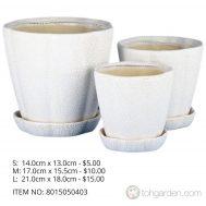 White Ceramic Pot (ITEM NO 8015050403)
