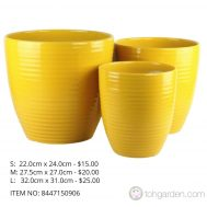 Yellow Ceramic Pot (ITEM NO 8447150906)