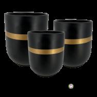 Black Marble Ceramic Pot.