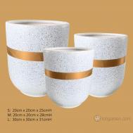 Gray Ceramic Pot.