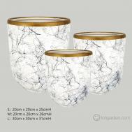 White Marble Ceramic Pot (2)
