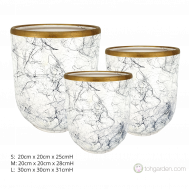 White Marble Ceramic Pot.
