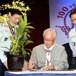 Gracing of the Orchid Certificate by SM Goh