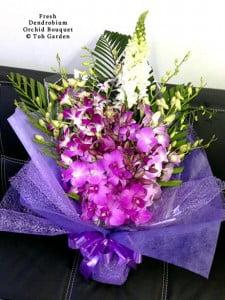 Fresh Dendrobium Orchid Bouquet
