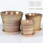 Round Brown Ceramic Pot