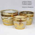 Round Gold Pot
