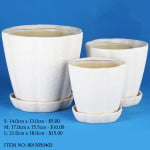 White Ceramic Pot (8015050403)