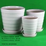 White Ceramic Pot (8016060402)