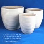 White Ceramic Pot (8039140905)