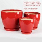 Red Ceramic Pot (8113090402)
