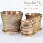 Brown Ceramic Pot (8468110603)