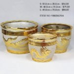 Gold Ceramic Pot (9380362516)