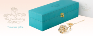 What more perfect gift for loved ones than Everlasting Gold-dipped Roses?