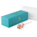 Everlasting rose - rose gold; modern green box