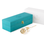 Everlasting rose -gold; modern green box