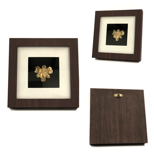 Gold dipped orchid in Classic brown frame.