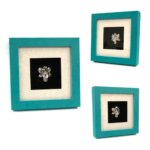Platinum dipped Real Orchid in Modern Green Frame