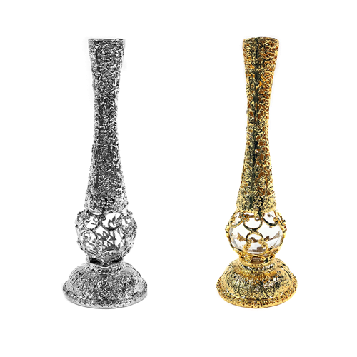 24K Gold and 999 Silver dipped candlesticks
