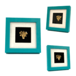 Gold dipped Real Orchid in Modern Green frame.