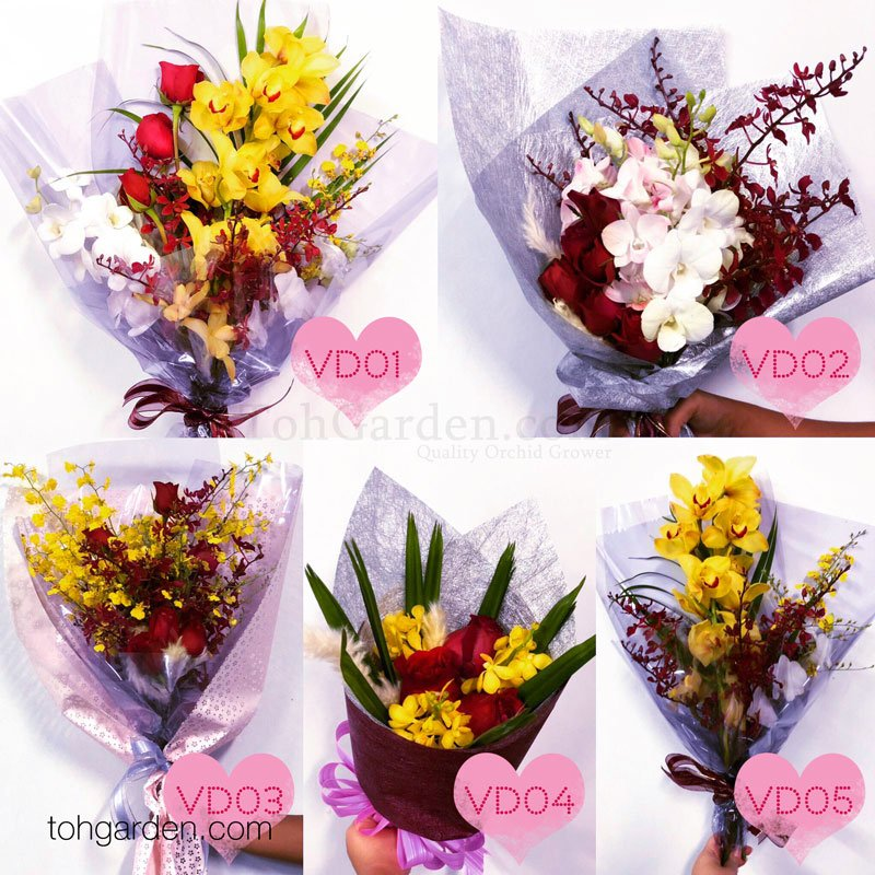 2019 Valentine S Day Orchid Flower Bouquet Collection Toh Garden Singapore Orchid Plant Flower Grower