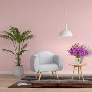 Candy Stripe Flower Arrangement in Living Room
