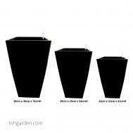 Self-Watering Pot (Glossy Black)