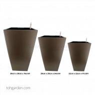 Self-Watering Pot (Glossy Brown)