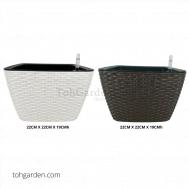 Self-Watering Pot Rattan