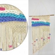 Colorful Macrame Woven Wall Hanging Tapestry Handmade