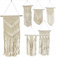 Macrame Woven Wall Hanging Tapestry Handmade Cotton Decorative Bohemian Chic Knitting Art