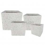 Cubex Ivory Pot (Fiberglass)