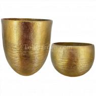 Gold Aztecio Fiberglass Pot