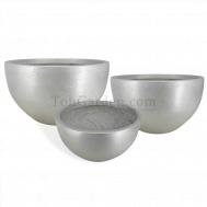 Silver Bowlry Fiberglass Pot