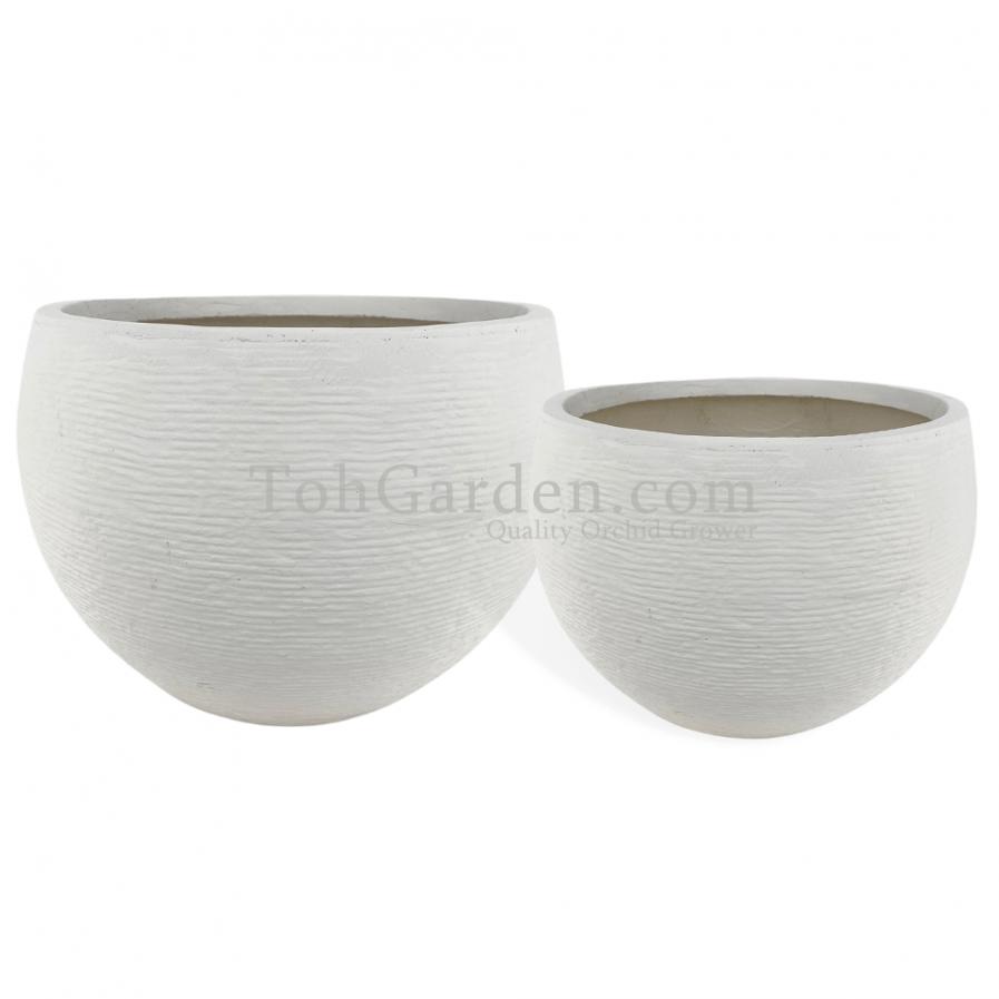 White Berryaro Fiberglass Pot (Texture)
