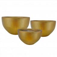 Gold Bowlry Fiberglass Pot