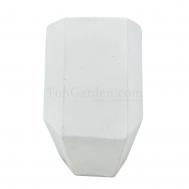 White Hexagonex Fiberglass Pot