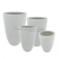 White Iciclevio Fiberglass Pot
