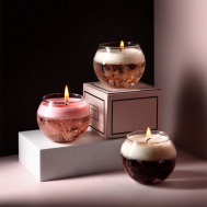 Glass Jar Preserved Flower Aromatherapy Luxury Fragrance Scented Candle